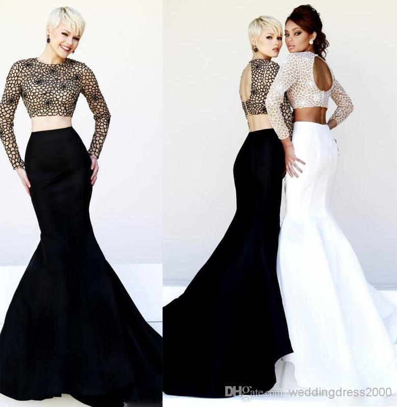 Stunning Two-piece 2015 Evening Dresses Custom Made Long Prom ...