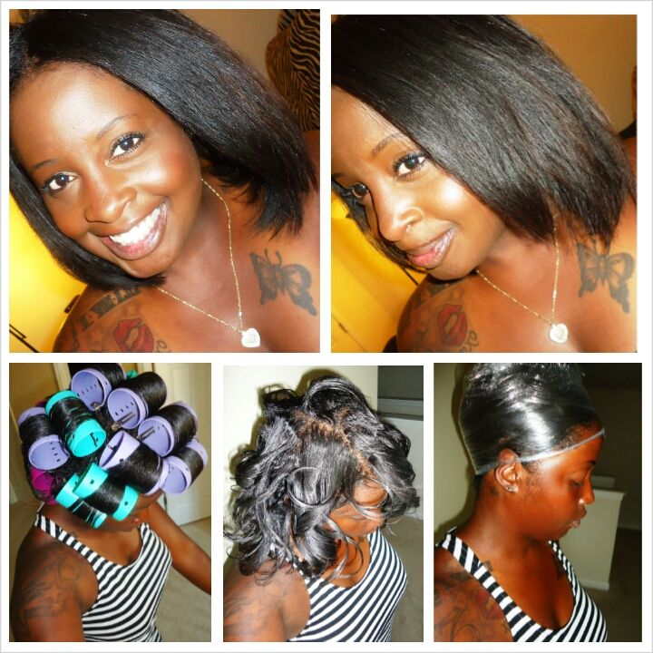 Kitchen Beautician Roller Wrap Saran Wrap Method Natural Hair Silk Natural Hair Styles Natural Hair Haircuts