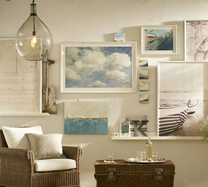 Wanddeko im Wohnzimmer - Bilder und Fotos an der Wand arrangieren