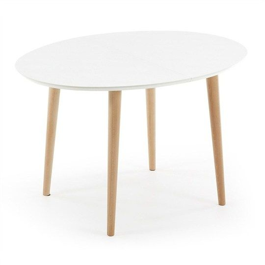 Dallington 120200cm Extendable Oval Dining Table White