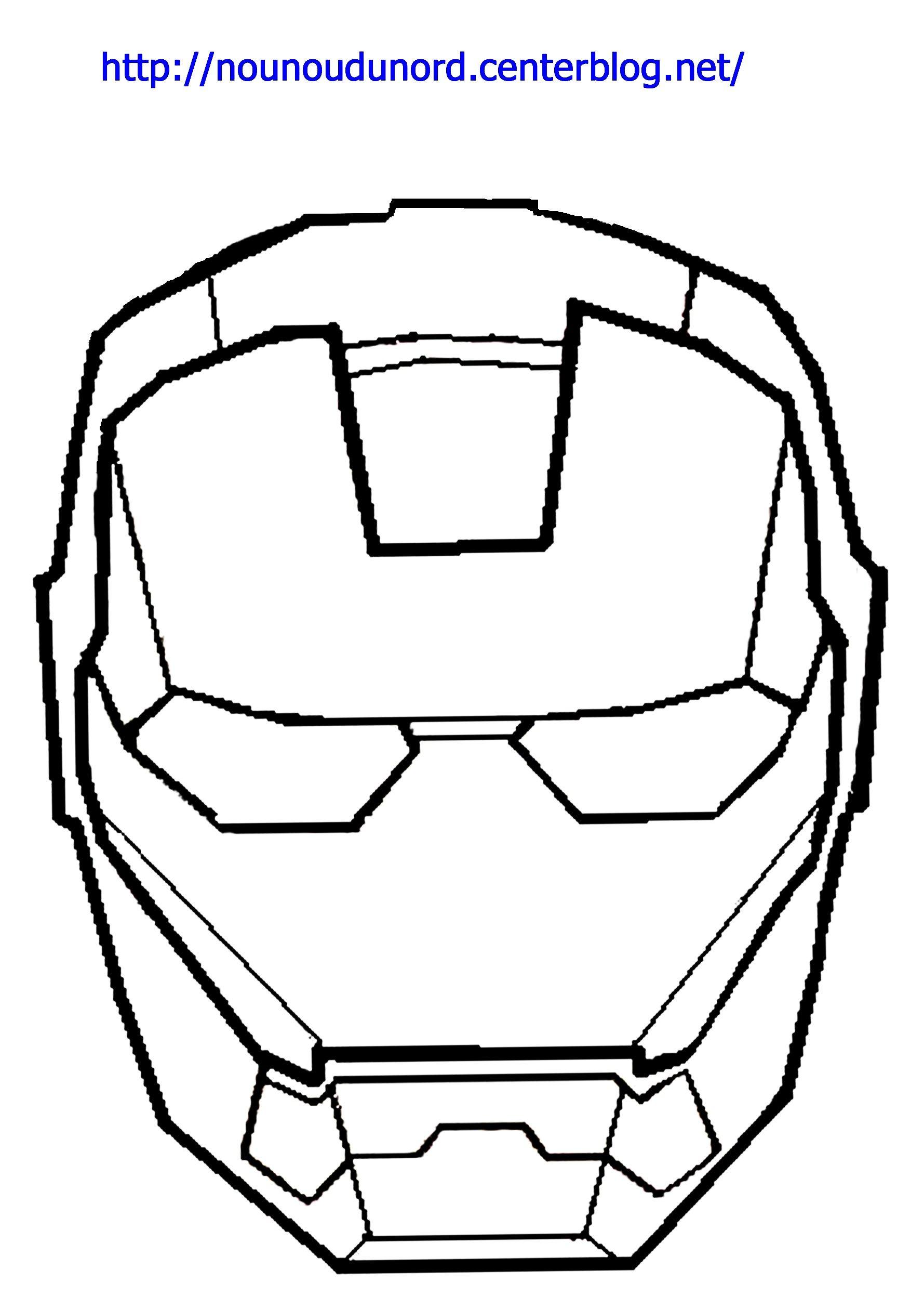 Coloriage Iron Man A Colorier Dessin A Imprimer Printable Art