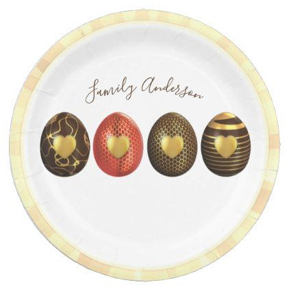 Personalized EASTER Paper Plates Chocolate Eggs - paper gifts presents gift idea customize  sc 1 st  Pinterest & Personalized EASTER Paper Plates Chocolate Eggs - paper gifts ...
