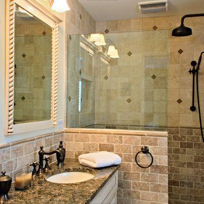 bronze bathrooms, mediterranean   antiqued bronze fixtures