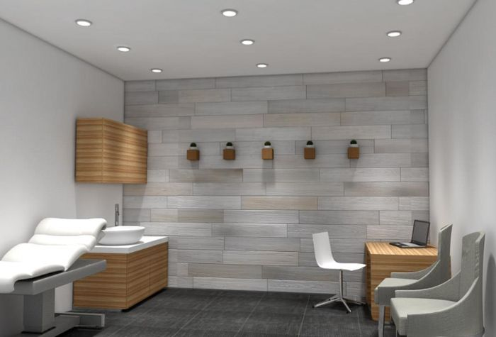 minimalist modern mid century medical office design by viva medsuites in scottsdale arizona