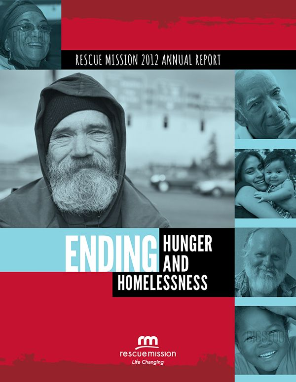 Rescue Mission Annual Report cover on Behance #annualreports
