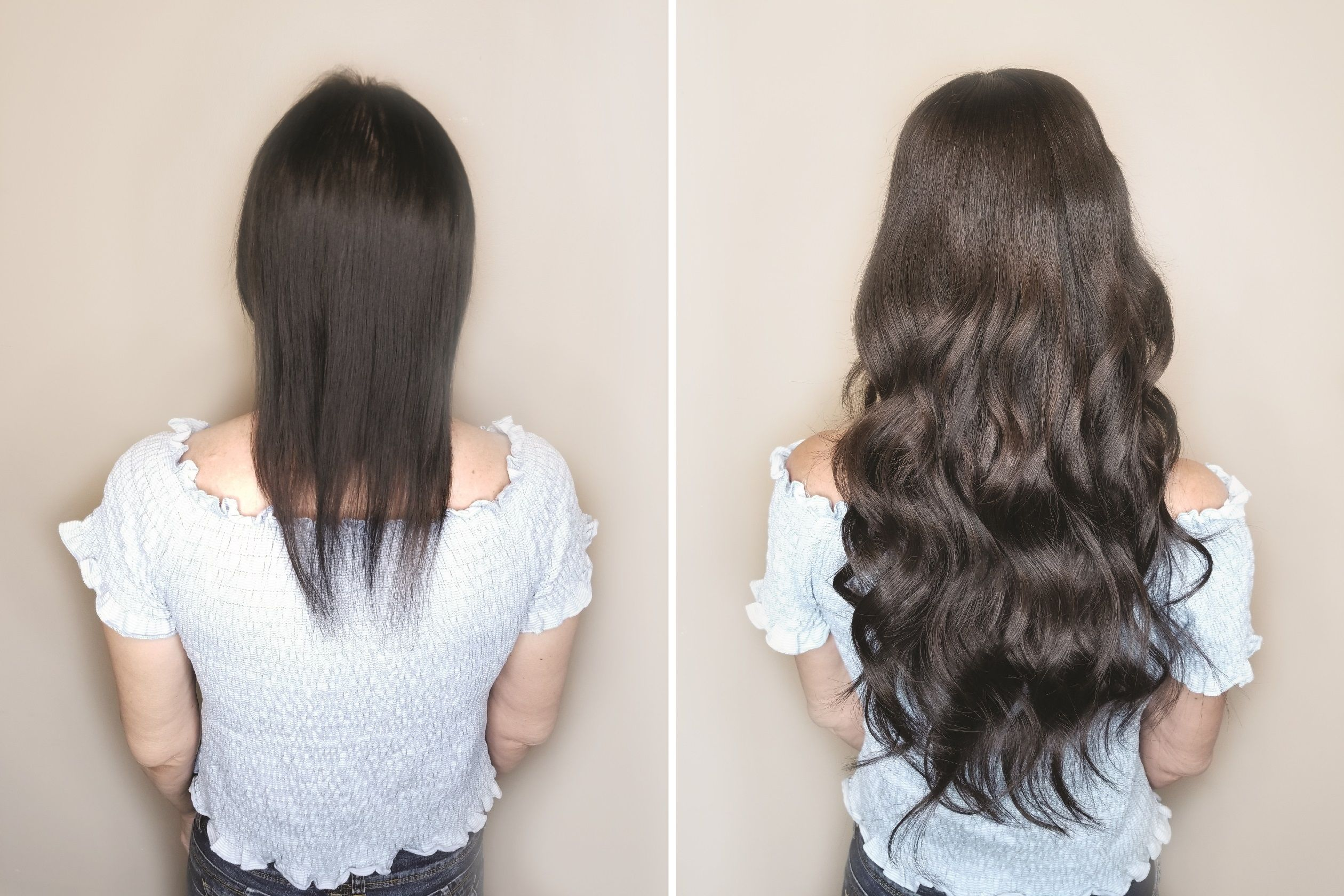Thin Oily Hair We Can Help You In About An Hour Our Incredible Premium Europe Hair Extensions Before And After European Hair Extensions Long Hair Extensions