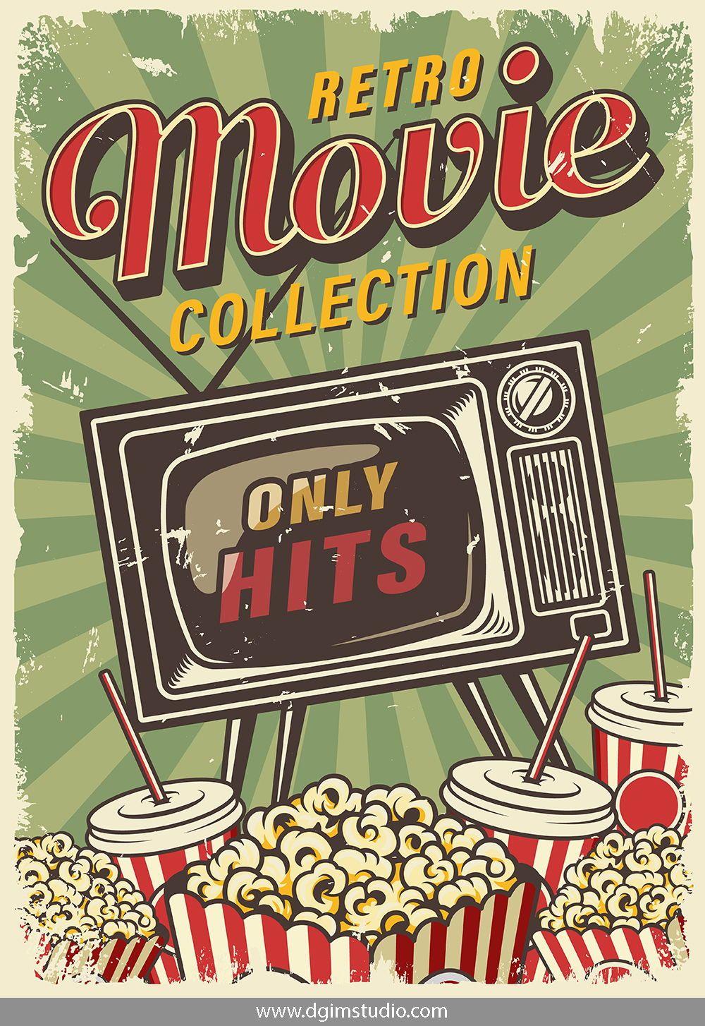 12 Cinema Posters Vintage Poster Design Poster Vintage Retro Vintage Posters Decor