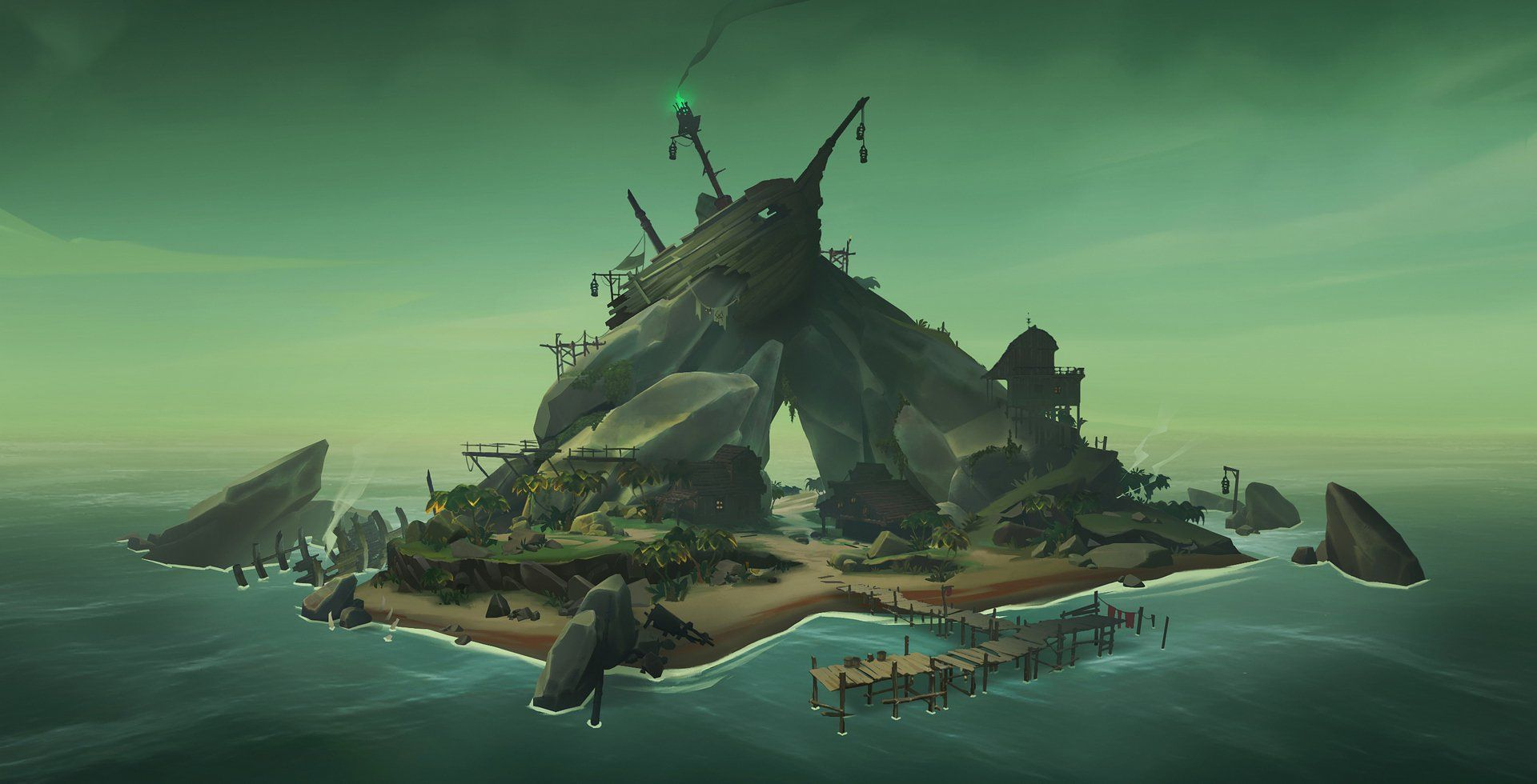 Some Concept Art From Sea Of Thieves Kotaku Australia Sea Of Thieves Concept Art Sea Of Thieves Game