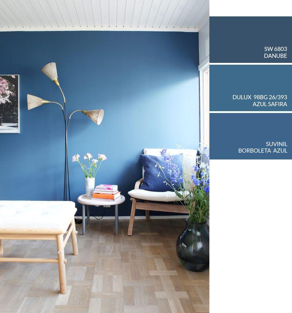 Dica De Cor De Tinta Para Pintar Parede Em Casa Tinta Azul Sala