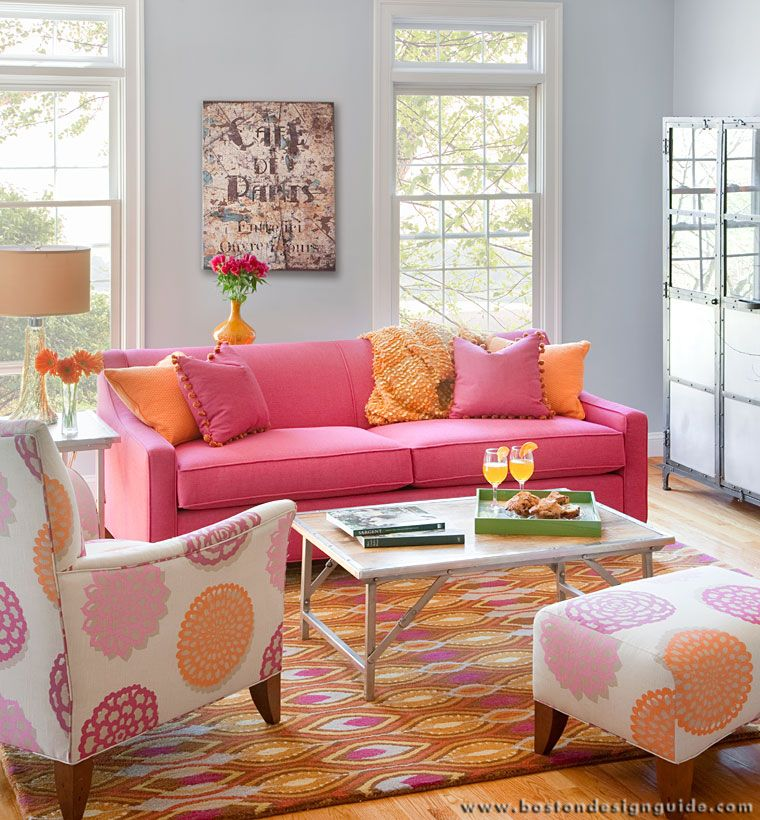 pink living room furniture | Circle Furniture - Contemporary ...