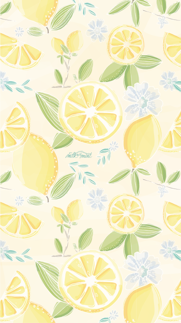 Lemons 🍋 Cute wallpaper backgrounds, Pattern wallpaper