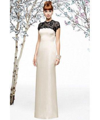 Lela Rose LX196 Vintage Lace Satin Ivory New Bridesmaid Dresses