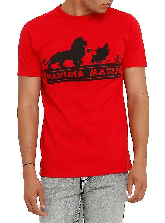 Disney Women/'s Le Roi Lion Film Hakuna Matata T-Shirt