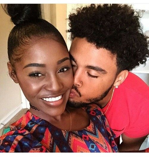 Women dark skinned interracial black