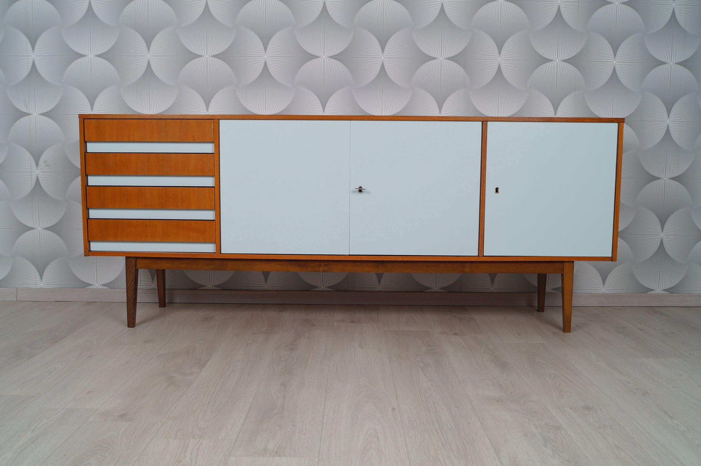 Sideboard 60er Teak Bunt Kommode Vintage Mid Century Modern
