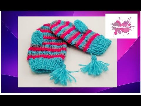 Video tutorial gratis manopla o mitón niña a crochet | Free tutorial ...