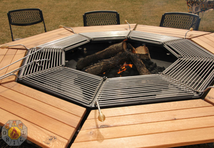 This Fire Pit Grill And Table Combo Is Every Man S Dream Fire Pit Bbq Fire Pit And Grill Combo Fire Pit Grill