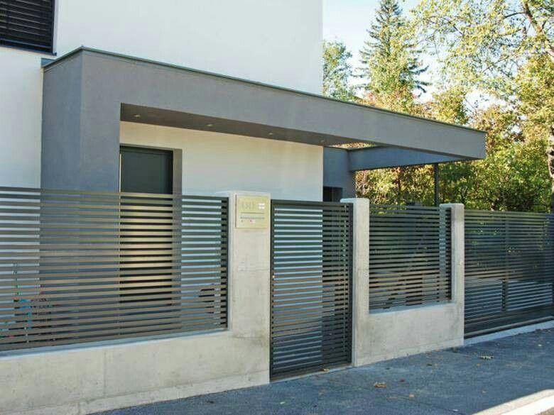 Driveway side door gate Modern fence design, Fence