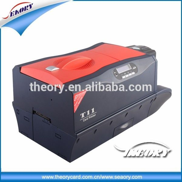 Seaory t11sd thermal pvc card printer for business card 2015 new model singledual sided manual pvc card printer and embossed machine with high quality reheart Choice Image
