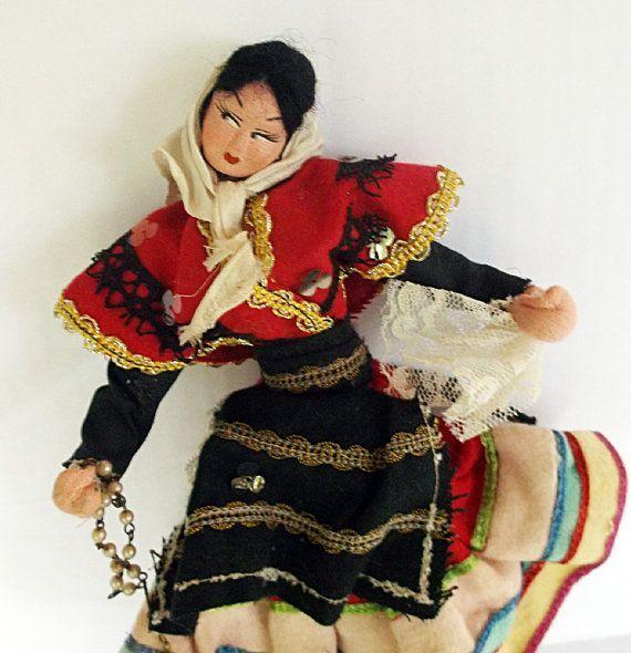 Vintage Spanish Doll Roldan Klumpe by CrowsCottage on Etsy #spanishdolls Vintage Spanish Doll Roldan Klumpe by CrowsCottage on Etsy #spanishdolls