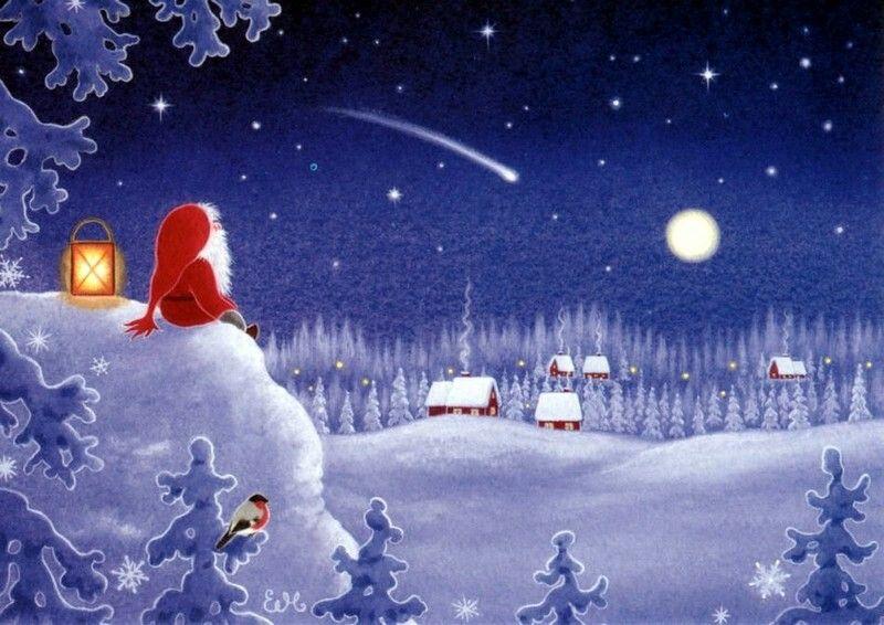 Открытки рождество волшебство рождества, днем ктоф