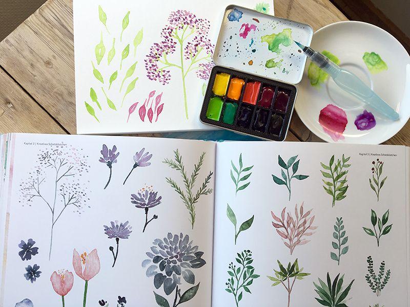 Handlettering Watercolor Eine Schatzkiste Voller Ideen
