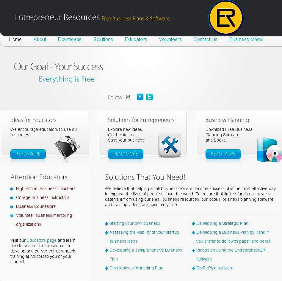 Website about free business planning software Free