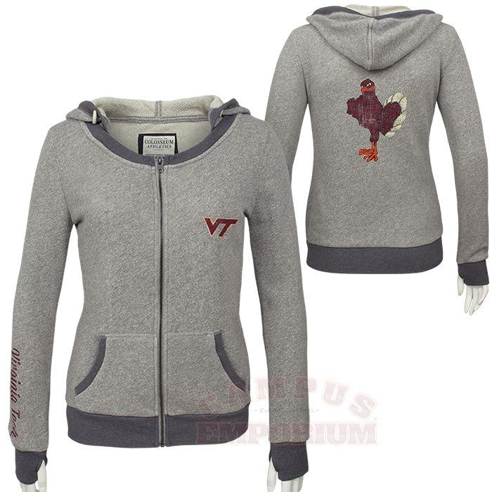 1f4f7c4b4 Women's Virginia Tech Hokies Full Zip Terry Hoodie (emporium ...