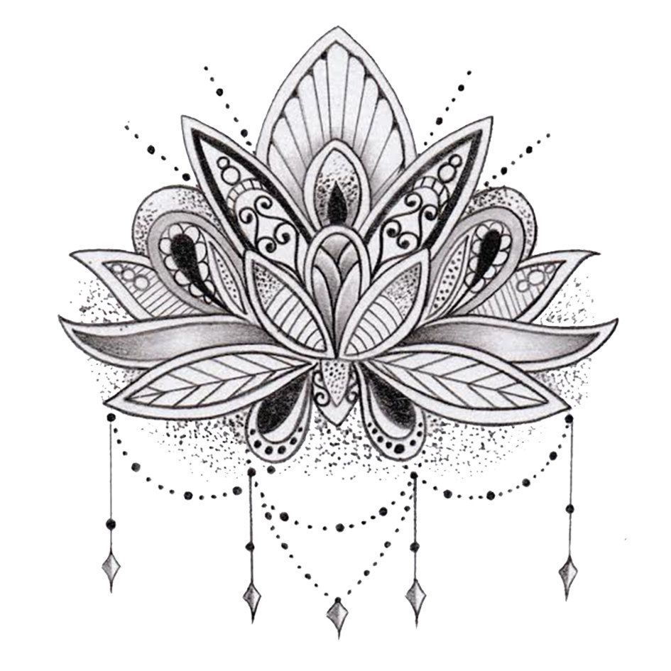 2 boards of temporary tattoos in the lotus flower style each of 2 boards of temporary tattoos in the lotus flower style each of the boards measuring dhlflorist Gallery