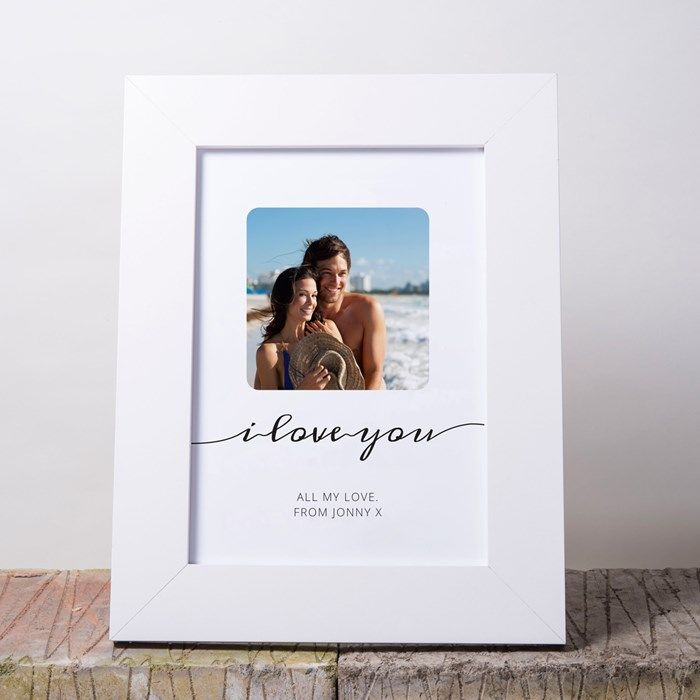 Photo Upload Framed Print - I Love You