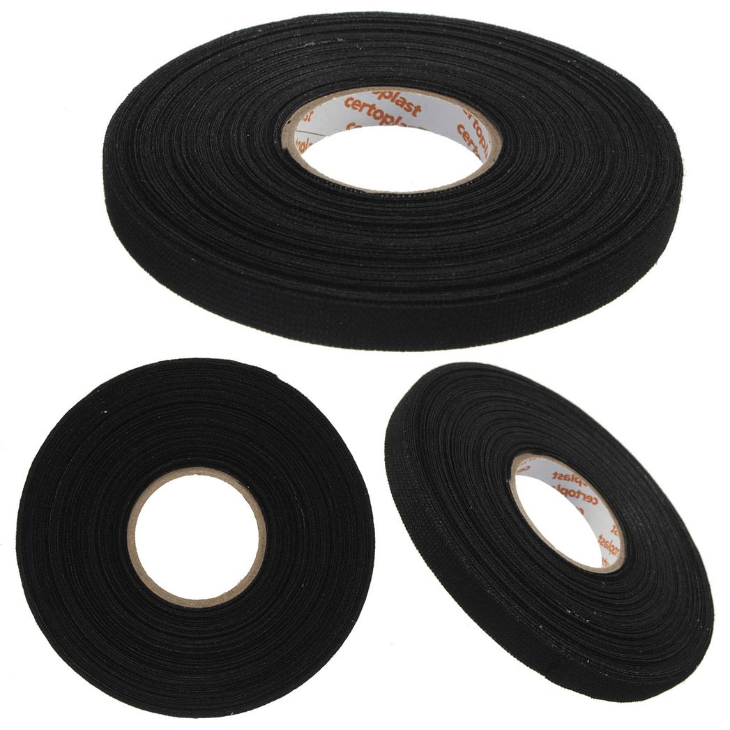 Wire Harness Tape Tools Wiring Library Cloth High Heat Resistant Insulation Insulating 15m 1pc Black Adhesive Fabric Cable Looms Protection 25mx9mmx03mm