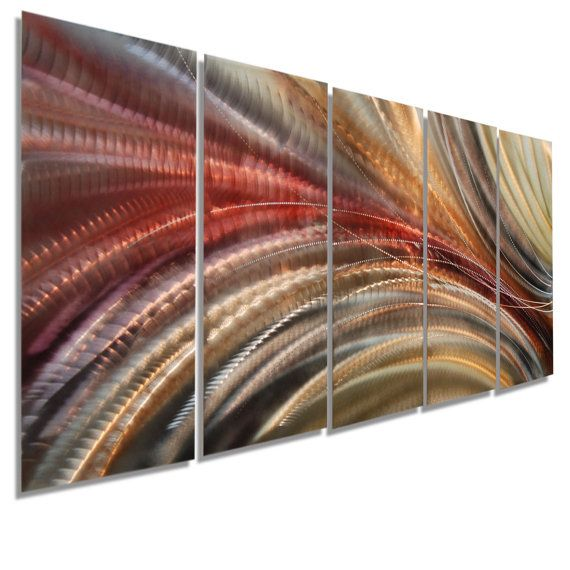 Metal Wall Art Multi Panel Wall Art Abstract Painting Large Etsy In 2020 Wall Sculpture Art Metal Wall Art Panels Metal Wall Art