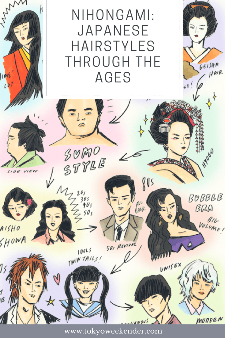 nihongami: japanese hairstyles through the ages   hair