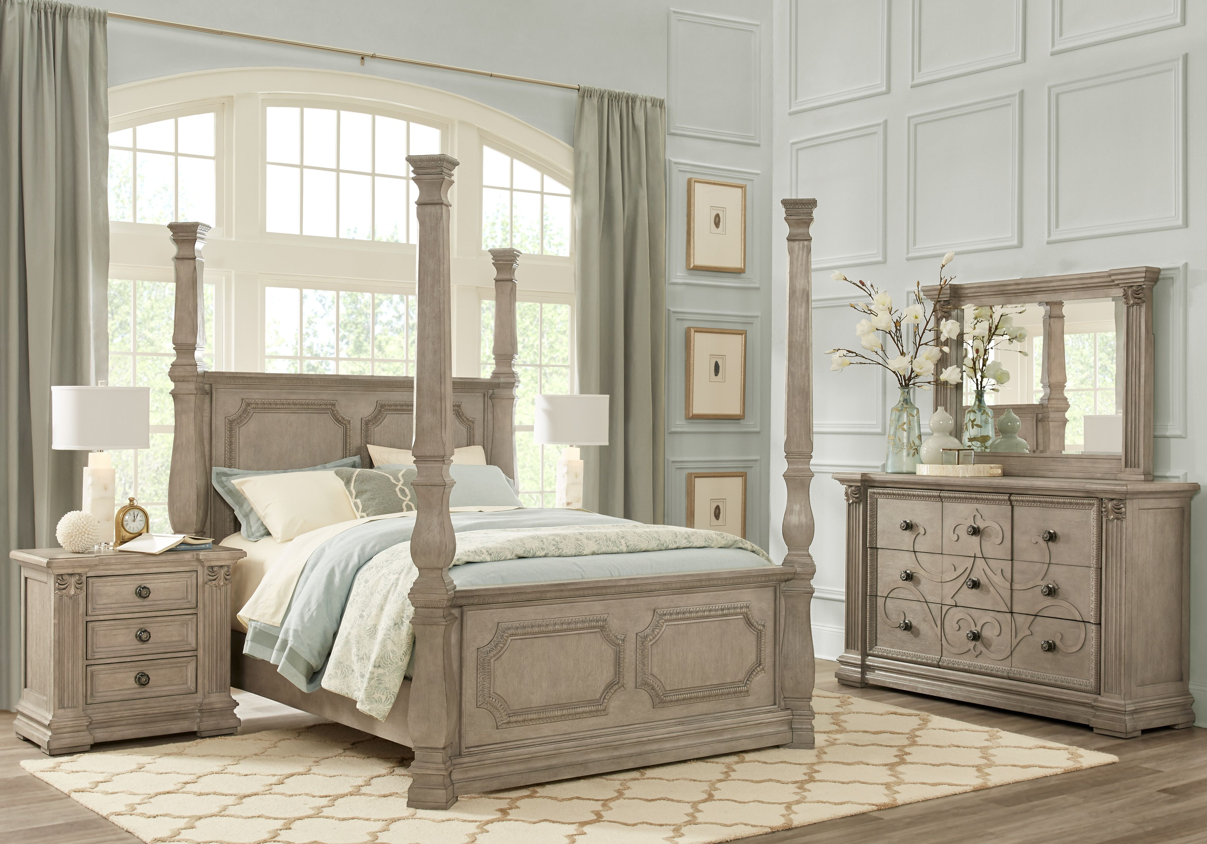 Havencrest Gray 8 Pc King Poster Bedroom in 2019 | Potential ...