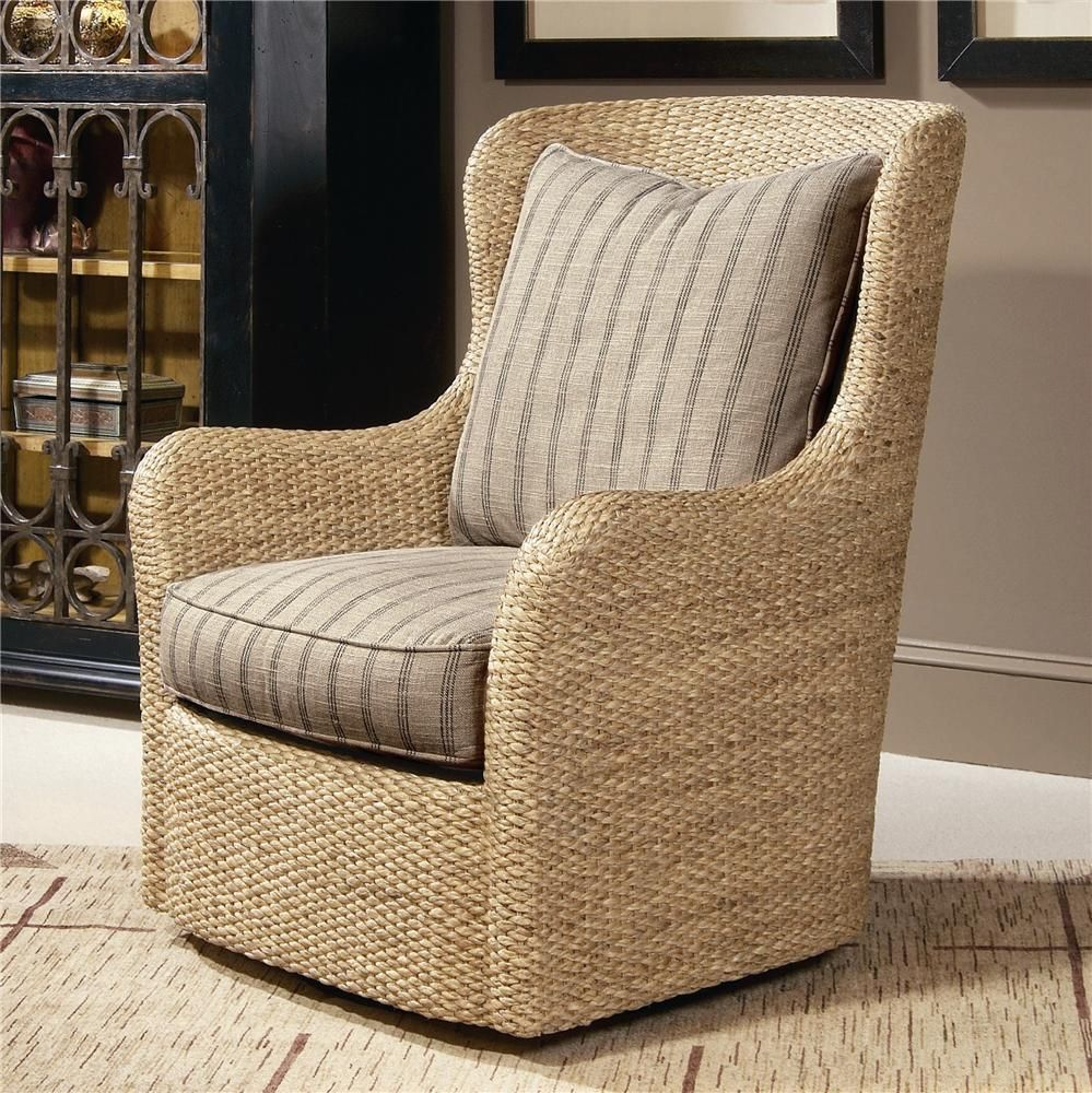 Elegance Water Hycantih Swivel Chair By Century