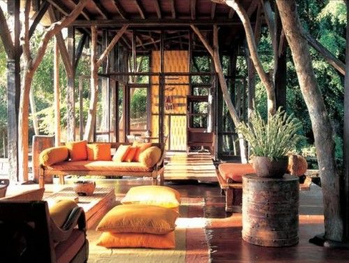ground terrace wooden Borneo house modern concept THE COZY LIFE