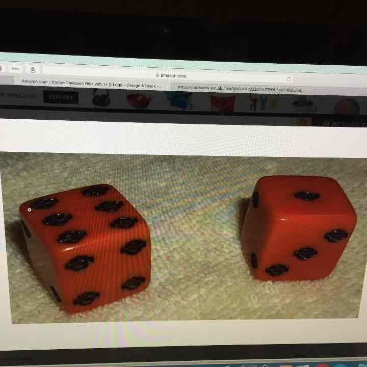 Cool item: Harley Davidson dice with HD logo 1 pair