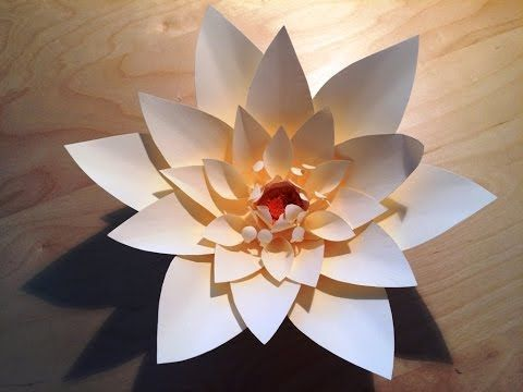 Anita Giant Paper Flower - YouTube #easypaperflowe - Paper Flower Backdrop Wedding #giantpaperflowers