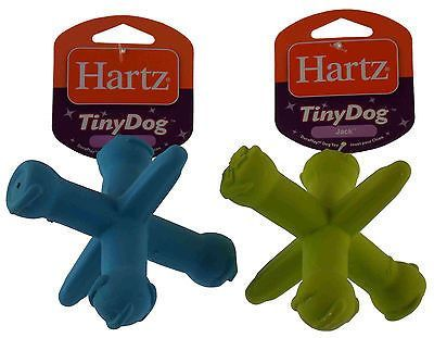 Lot 4 Hartz Dura Play Tiny Dog Toy Jack Blue Green Latex Throw Bounce Float NEW