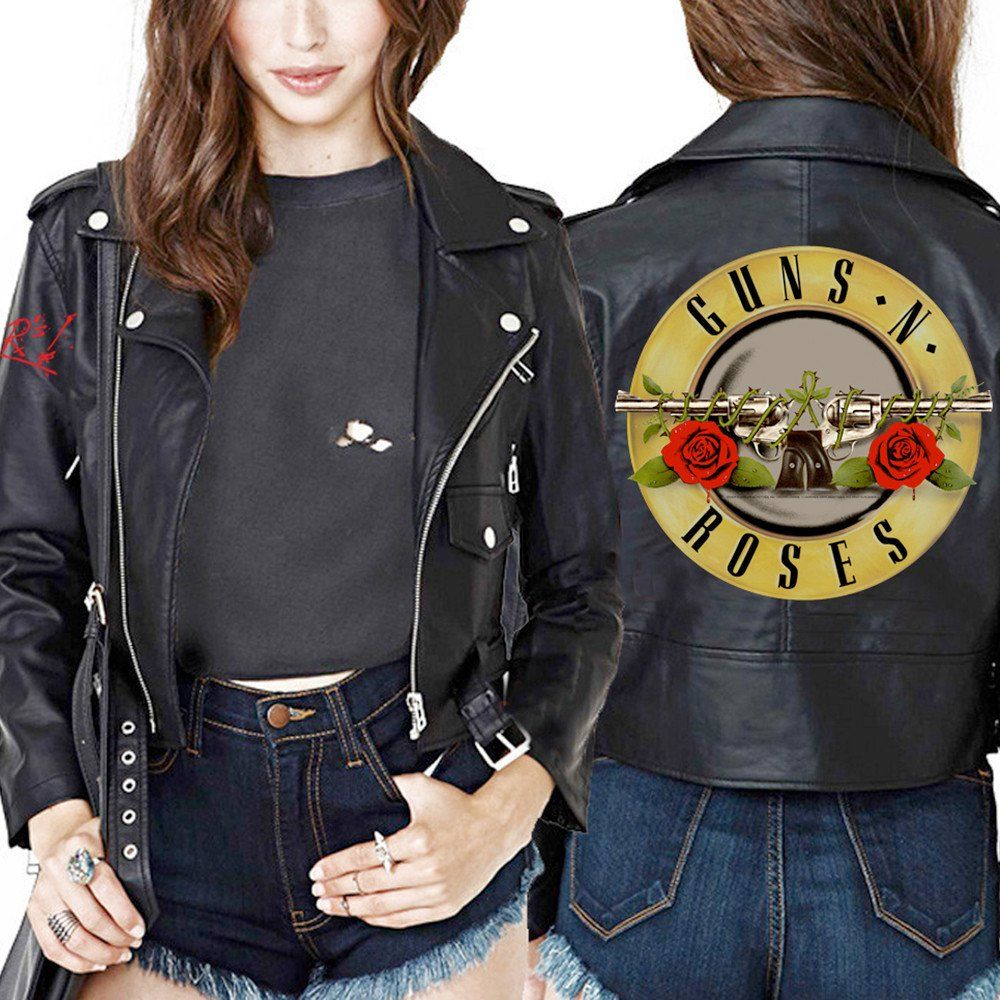 Leather jacket with roses - Guns N Roses Official Store Shop This And More Merch In The Official Store Women Leather Jacketsguns