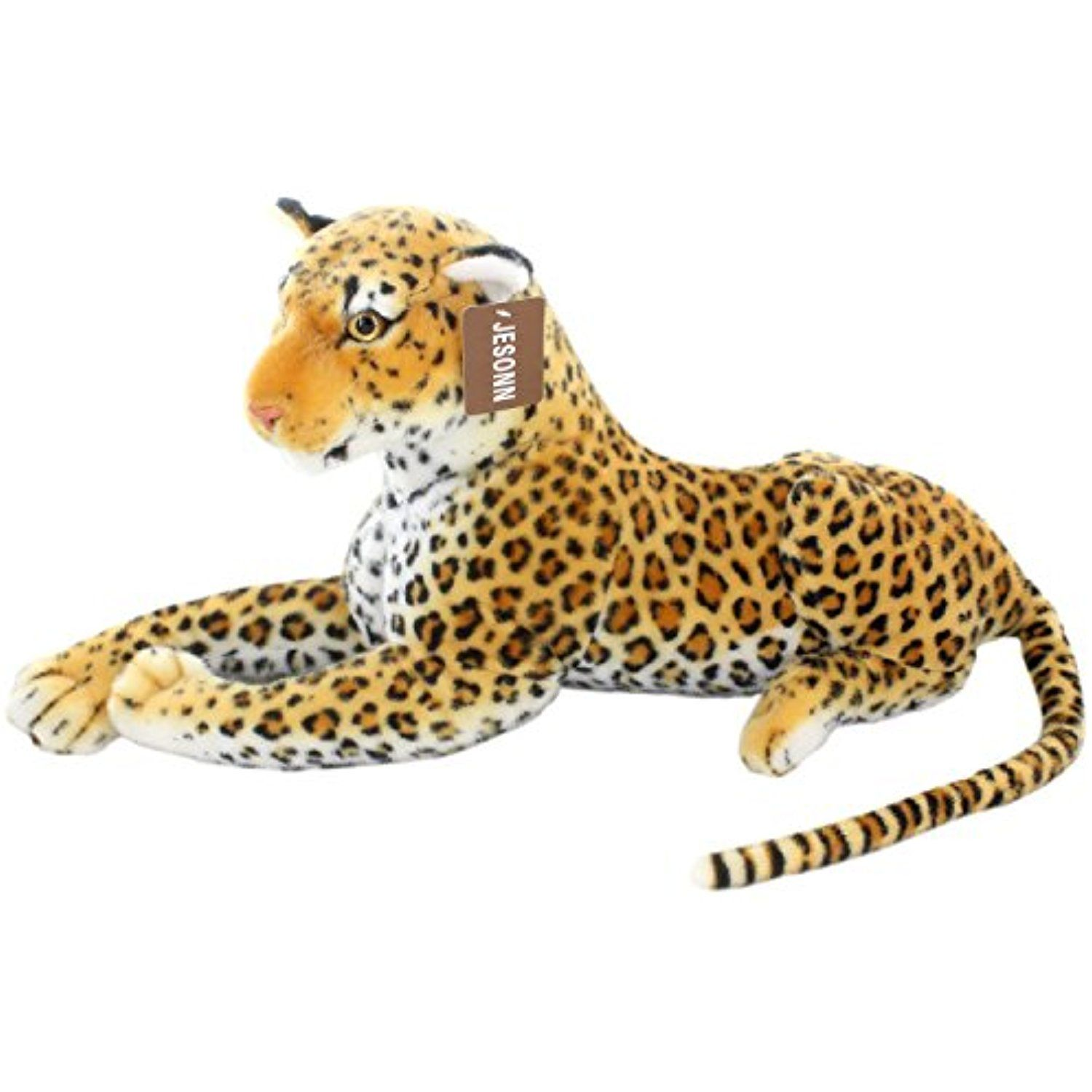 Jesonn Realistic Giant Stuffed Animals Plush Toy Spotted Leopard For Kids Gifts 23 6 Or 60cm 1pc C Giant Stuffed Animals Animals Realistic Stuffed Animals [ 1500 x 1500 Pixel ]