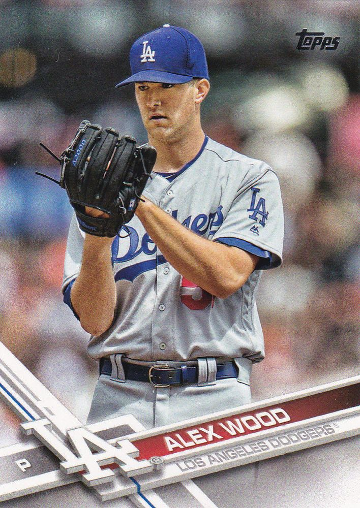 alex wood  topps  los angeles dodgers baseball cards beisbol