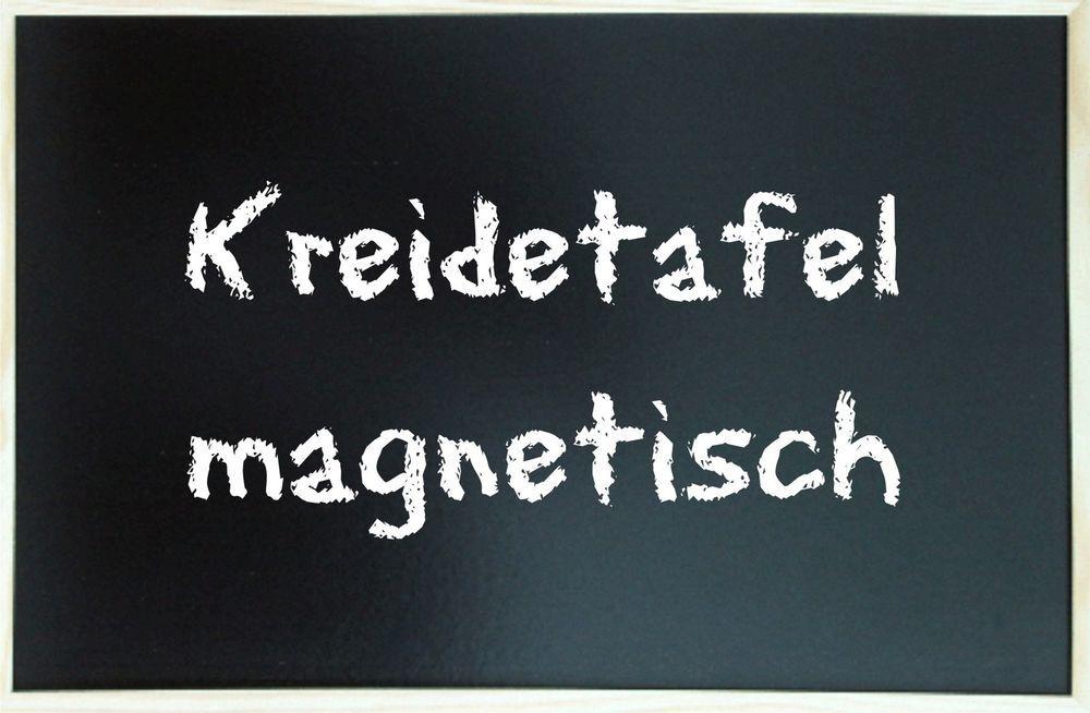Kreidetafel Schultafel MAGNETISCH 80 x 120 cm Alu schwarz Pinnwand Magnettafel