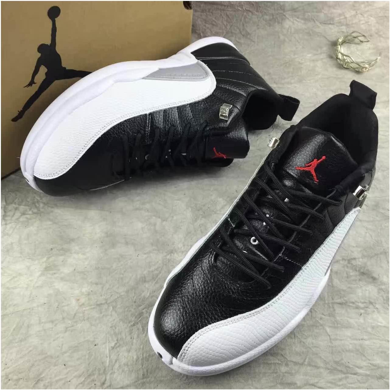 2d06ee96790 Nike Air Jordan Retro XII 12 Low Black White Men Shoes 3083170 | Air ...