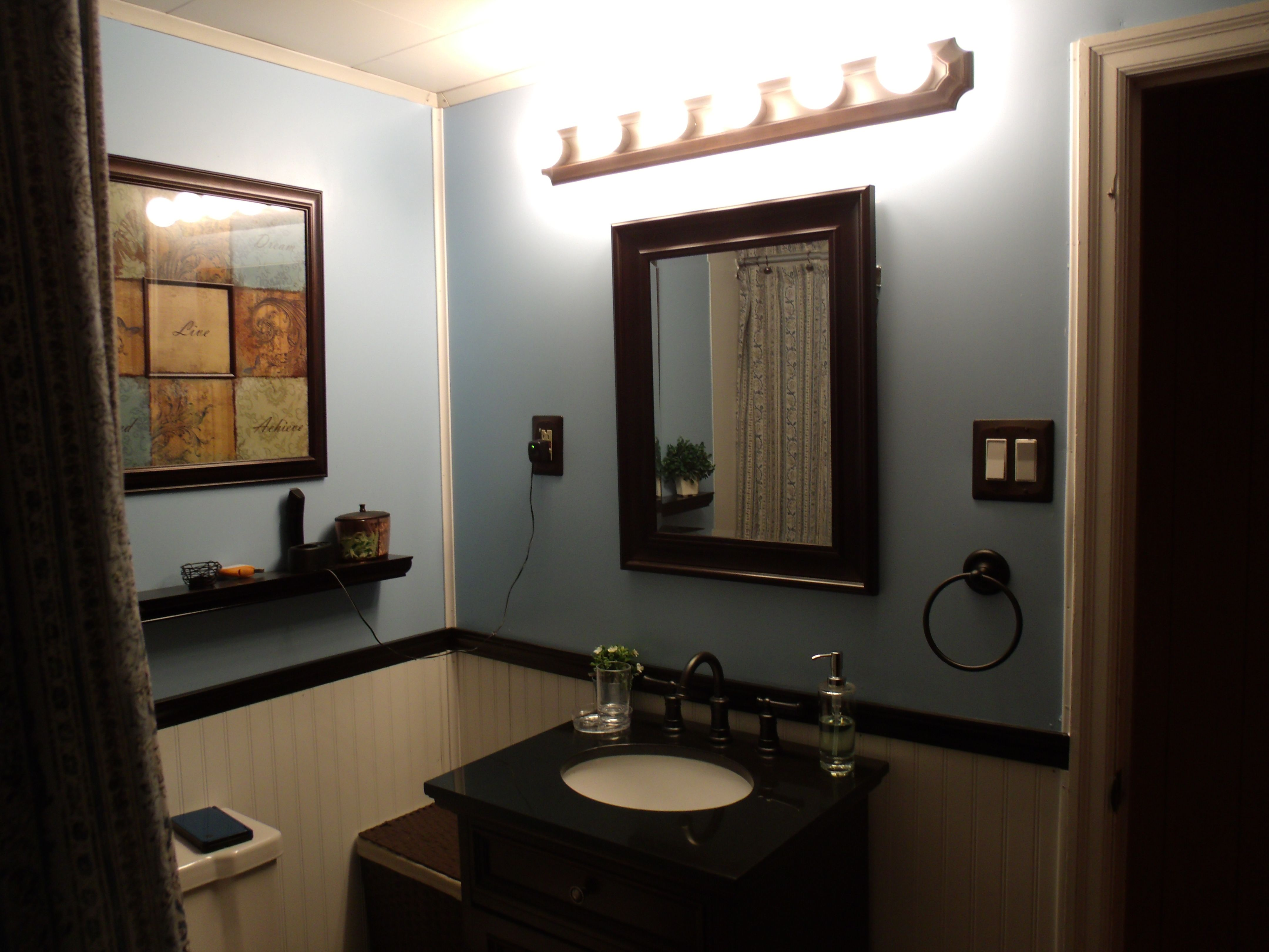 White BeadBoard - Valspar Ultra Bath Paint -Perfectly Blue and ...