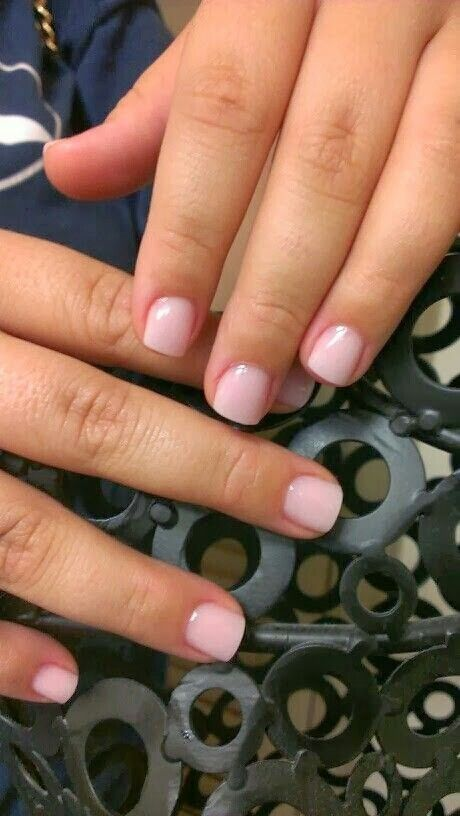 Simple Short Beautiful Pink Acrylic Nails Short Gel Nails Short Acrylic Nails