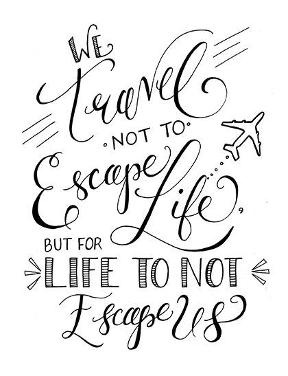 We Travel Not To Escape Life Instant by ...