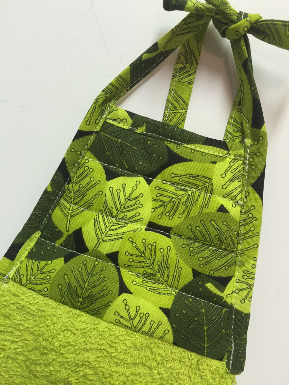 Leaf Kitchen Towel Lime Green Towel Green Hand Towel Kitchen Decor