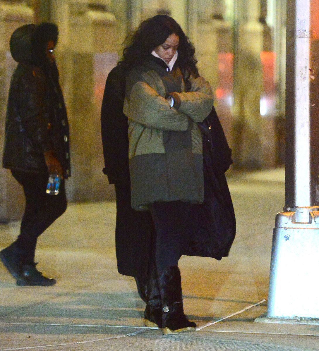 Rihanna in the Patchwork Polar Vortex-Proof Parka – Vogue