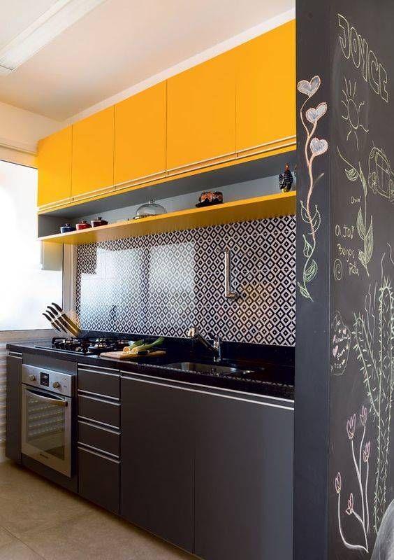 Cozinha Planejada Veja Mais De 100 Modelos Armarios Coloridos